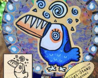 Toucanet clipart blue #2