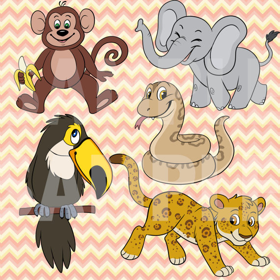 Toucanet clipart rainforest monkey #6