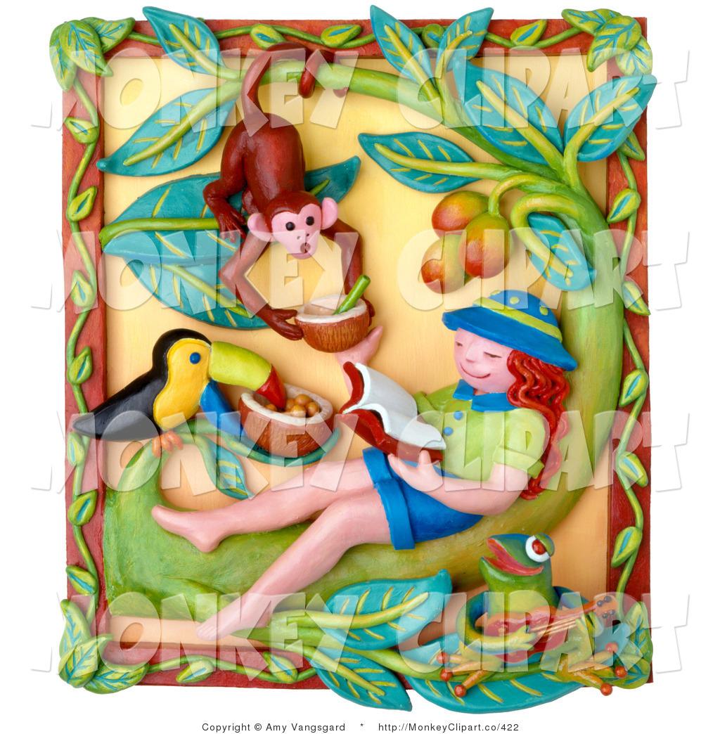 Toucanet clipart rainforest monkey #12