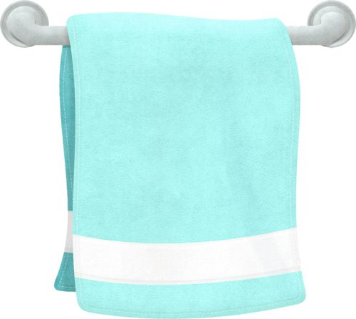 Towel clipart stacked Blue Clip Blue Towel –