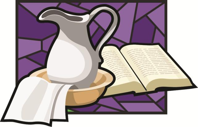 Towel clipart basin The Brethren Lent and for