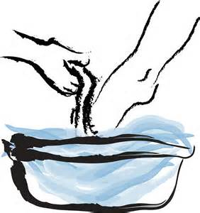Towel clipart basin Feet clipart washing Towel And