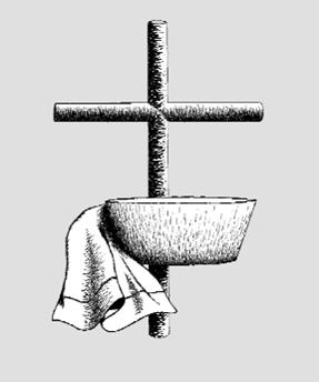 Towel clipart basin Edition basin and towel cross