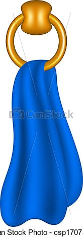 Towel clipart blue White Ring Ring with shaped
