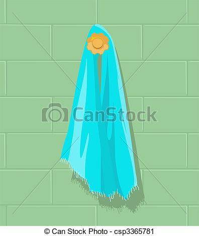 Towel clipart blue Stock blue the Illustration towel