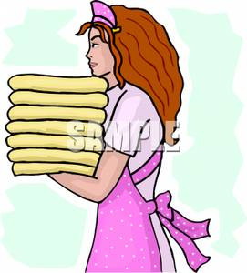 Towel clipart folded clothes Towels of of A Carrying