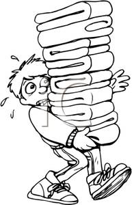 Towel clipart stacked Carrying and Towels Boy Stack