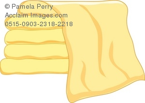 Towel clipart stacked A Art Yellow of of