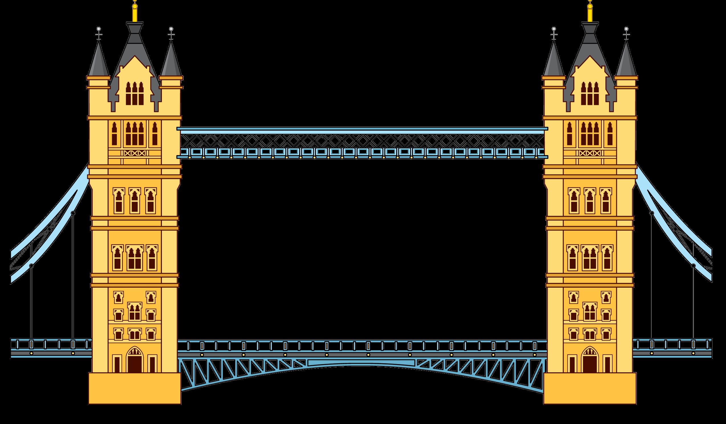 Tower Bridge clipart Transparent Png  and London