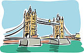 Tower Bridge clipart queen england Clip with Sydney Illustration Skyline