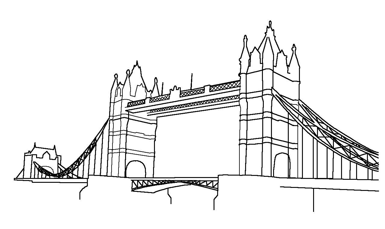 Bridge clipart outline Clipart Clip Bridge Tower Art