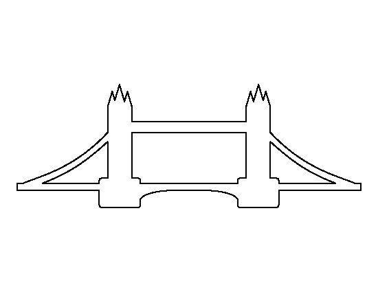 Bridge clipart outline Creating outline Monumentos viagem printable