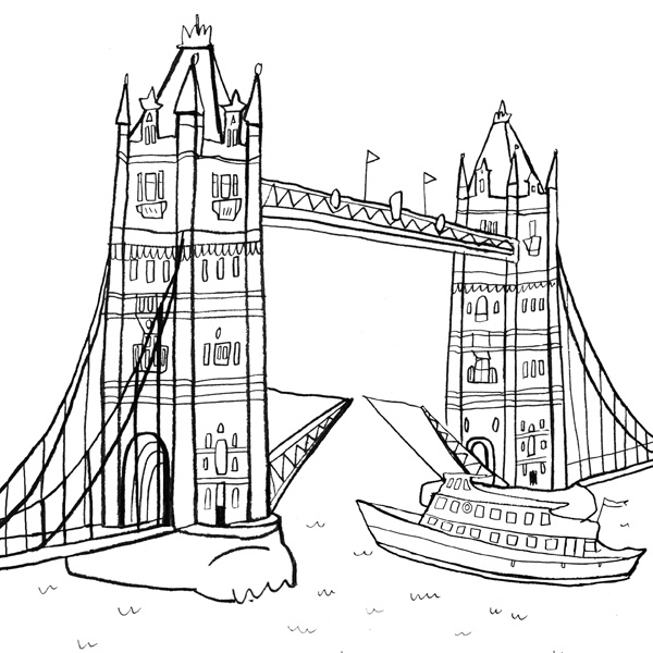 Tower Bridge clipart coloring London  Cosford Book Nina