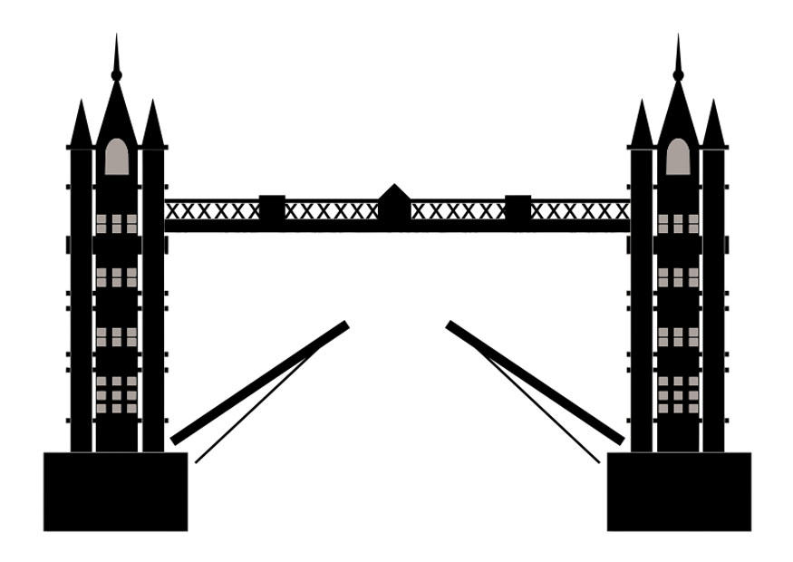 Tower Bridge clipart coloring Large Download Tower Coloring 29430