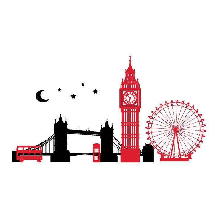 Tower Bridge clipart coloring Skyline Pinterest london on 23