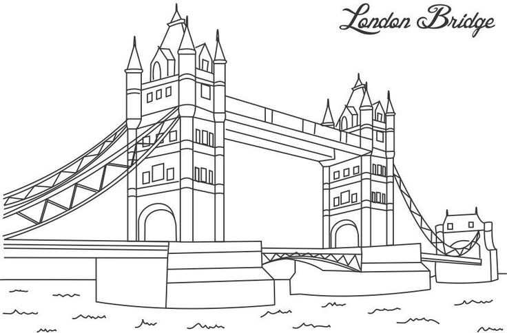 Tower Bridge clipart coloring This Tower images Find Pinterest