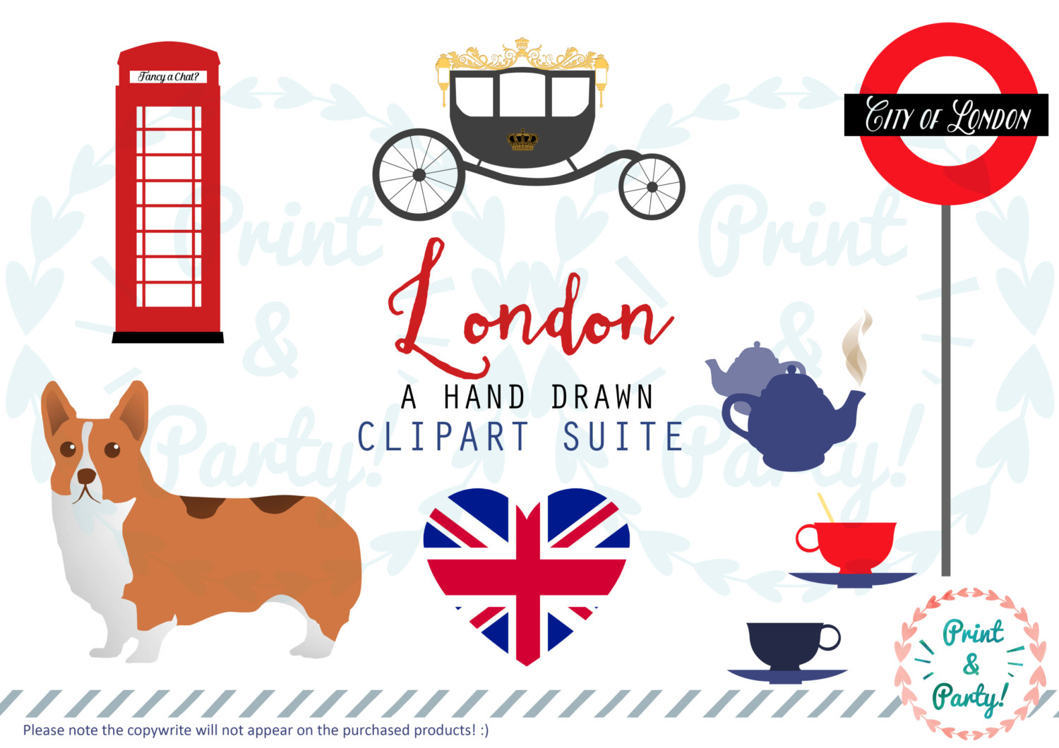 Tower Bridge clipart london bus Is digital Themed a This