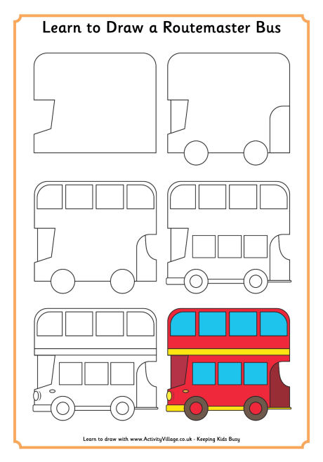 Drawn bus Learn London Learn a Draw