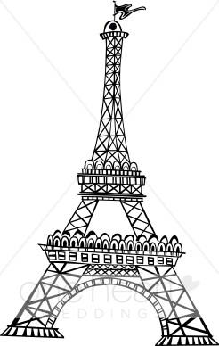 Eiffel Tower clipart simple Art Images Clip Clipart Clipart