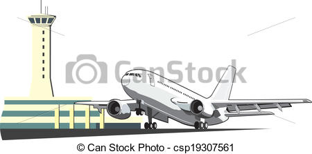 Aircraft clipart airplane (going csp19307561 Art Vector control
