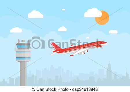 Tower clipart aircraft control #3