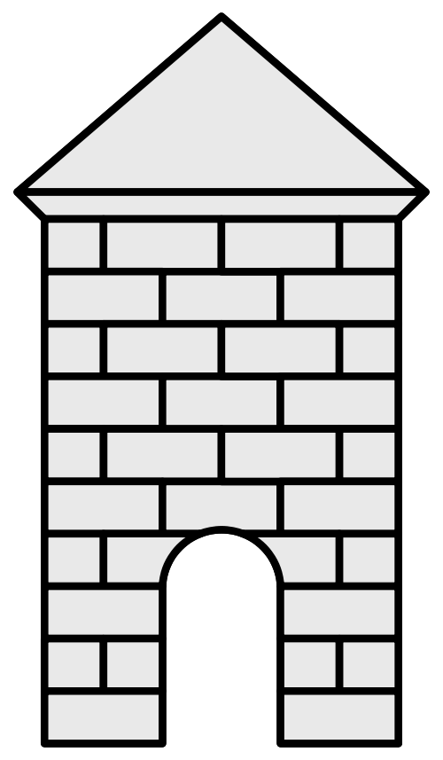 Tower clipart brick #10