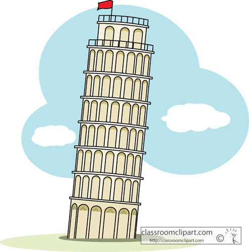 Tower clipart leaning tower #9