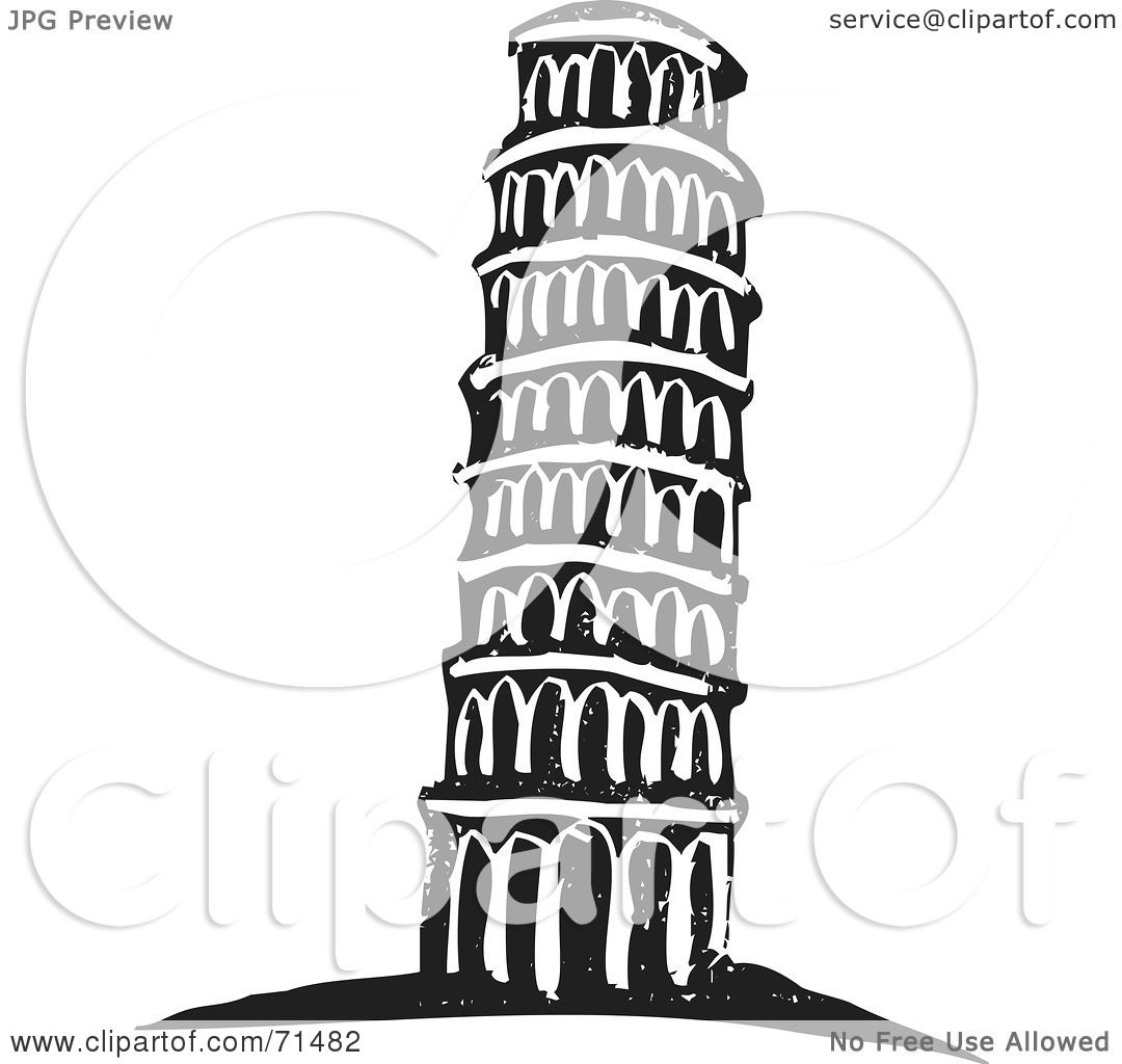 Tower clipart leaning tower #3
