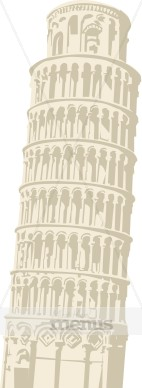 Tower clipart leaning tower #7