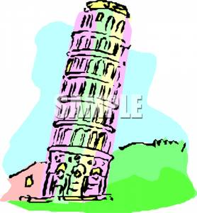 Tower clipart leaning tower #10