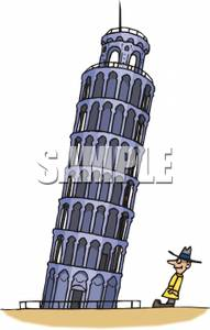 Tower clipart pisa tower #14