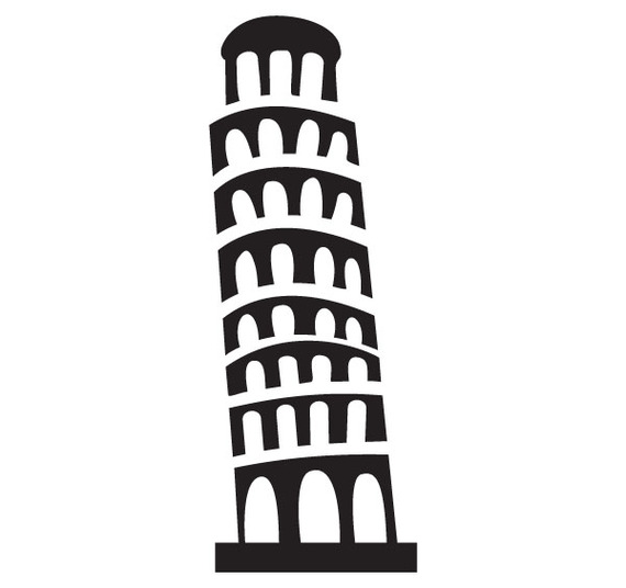 Tower clipart pisa tower #4