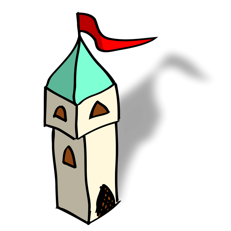 Towers clipart cartoon Photo a a Illustration Stock