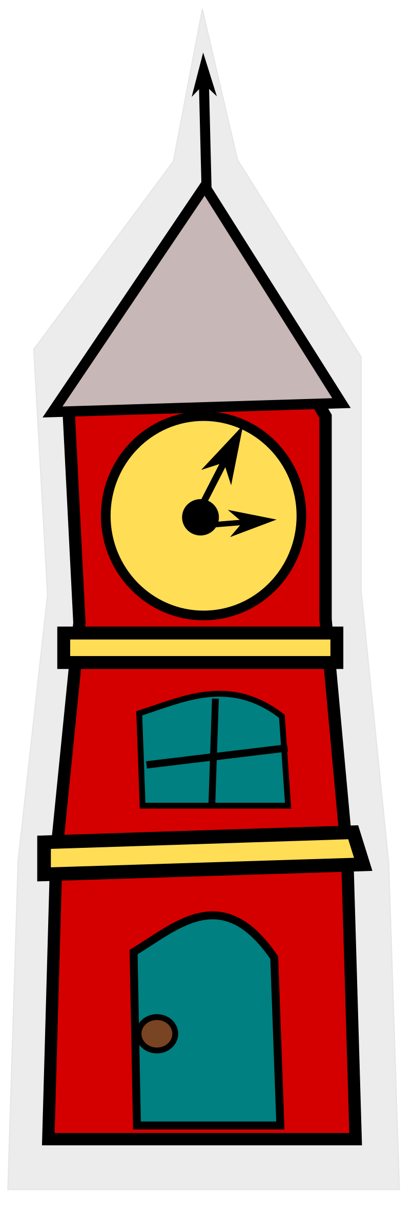 Towers clipart cartoon Clock with with a cartoon