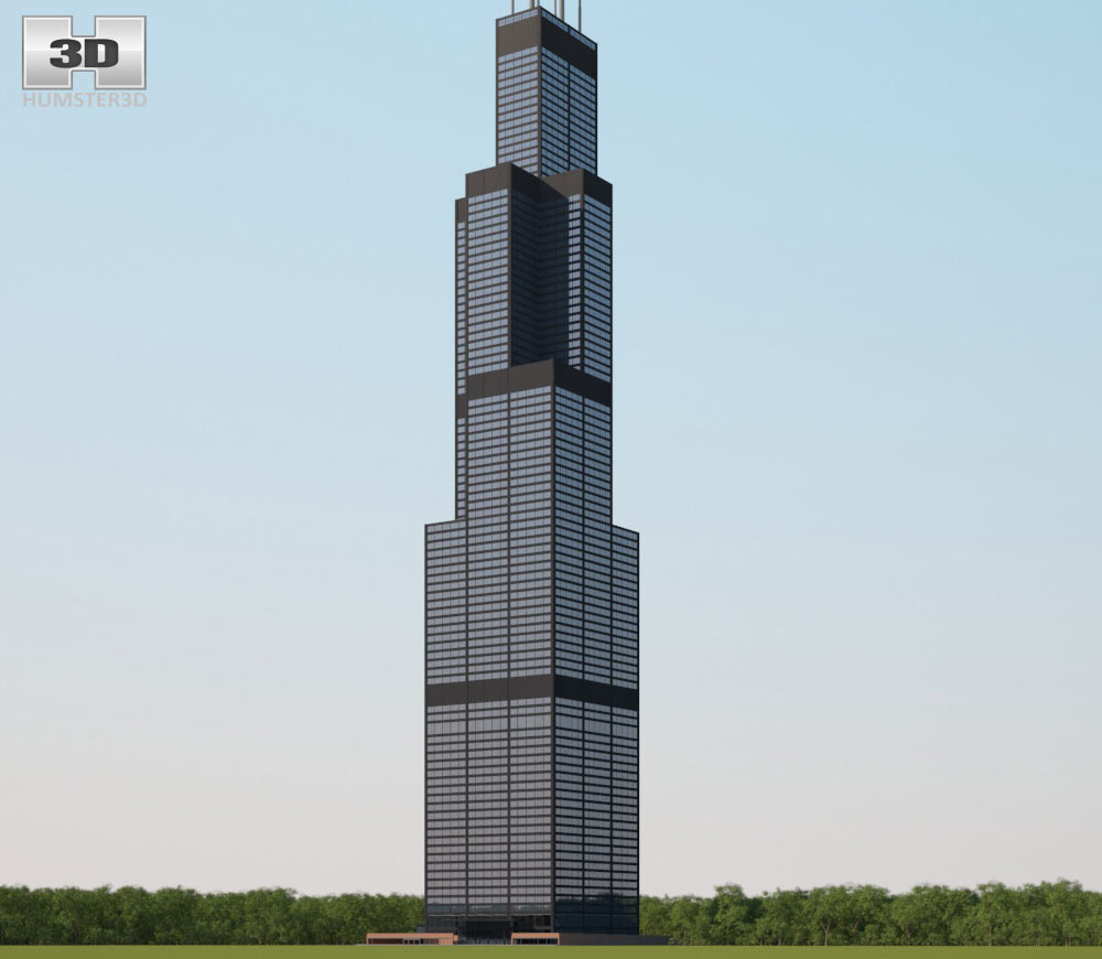 Towers clipart corporation building Model Tower model 3D Willis