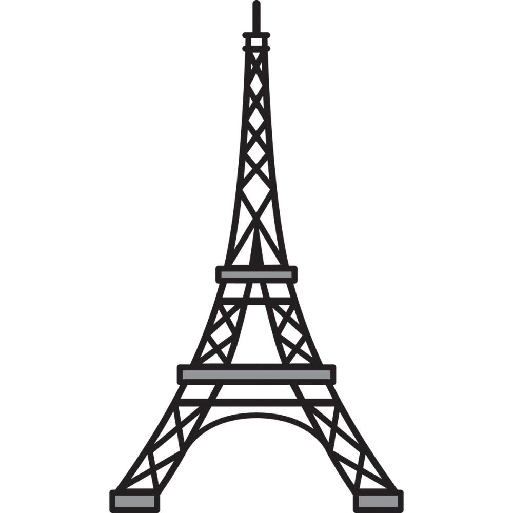 Eiffel Tower clipart simple Cliparts dromgfk dromgfk  Painted