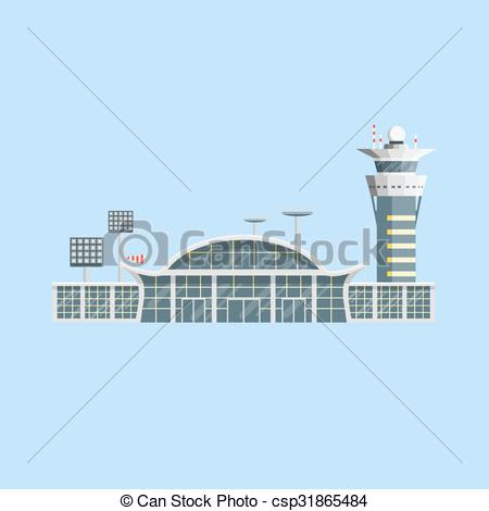 Towers clipart flat building Building design control Airport of