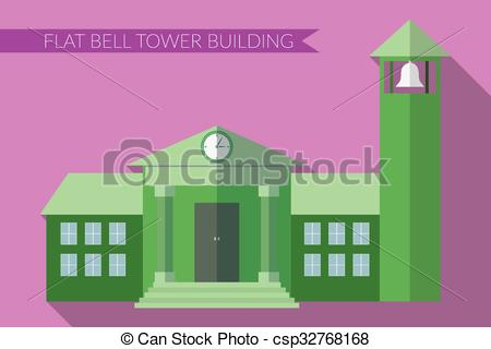 Towers clipart flat building Design Clip tower Flat of