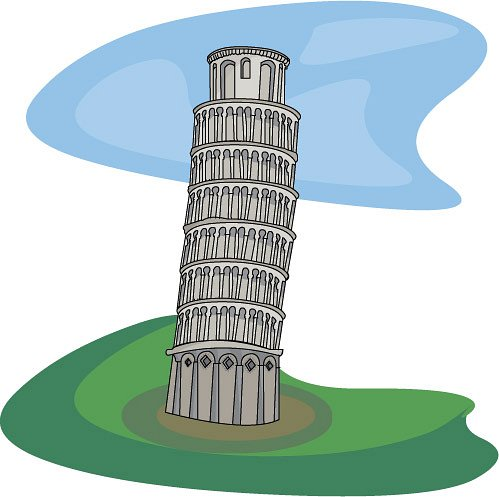 Tower clipart leaning tower #1