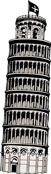 Tower clipart pisa tower #11