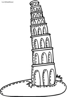 Towers clipart leaning tower Coloring Leaning Pisa Leaning Of