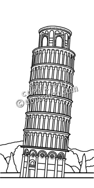 Tower clipart pisa tower #10