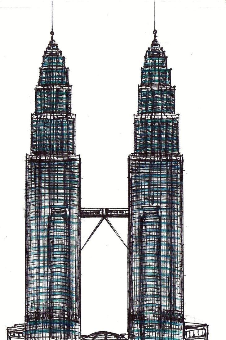 Building clipart petronas By Petronas on Towers Towers