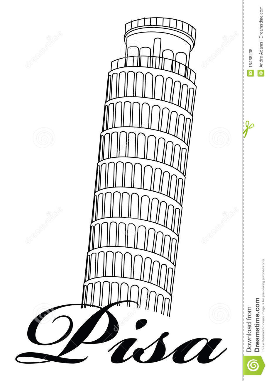 Tower clipart pisa tower #3
