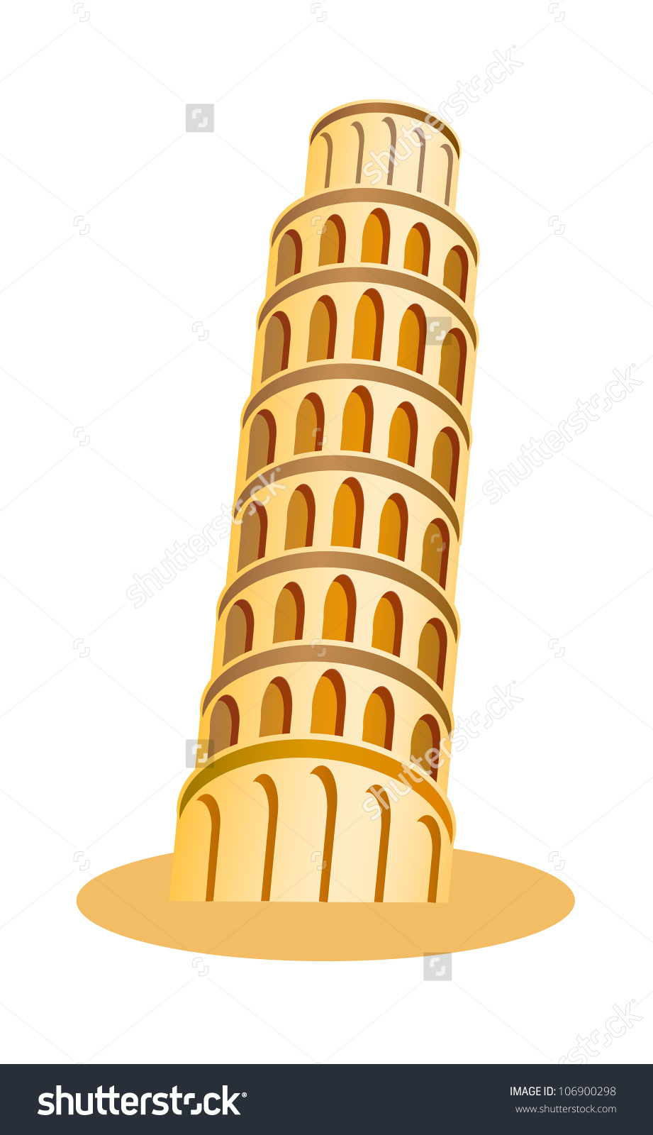 Tower clipart pisa tower #1