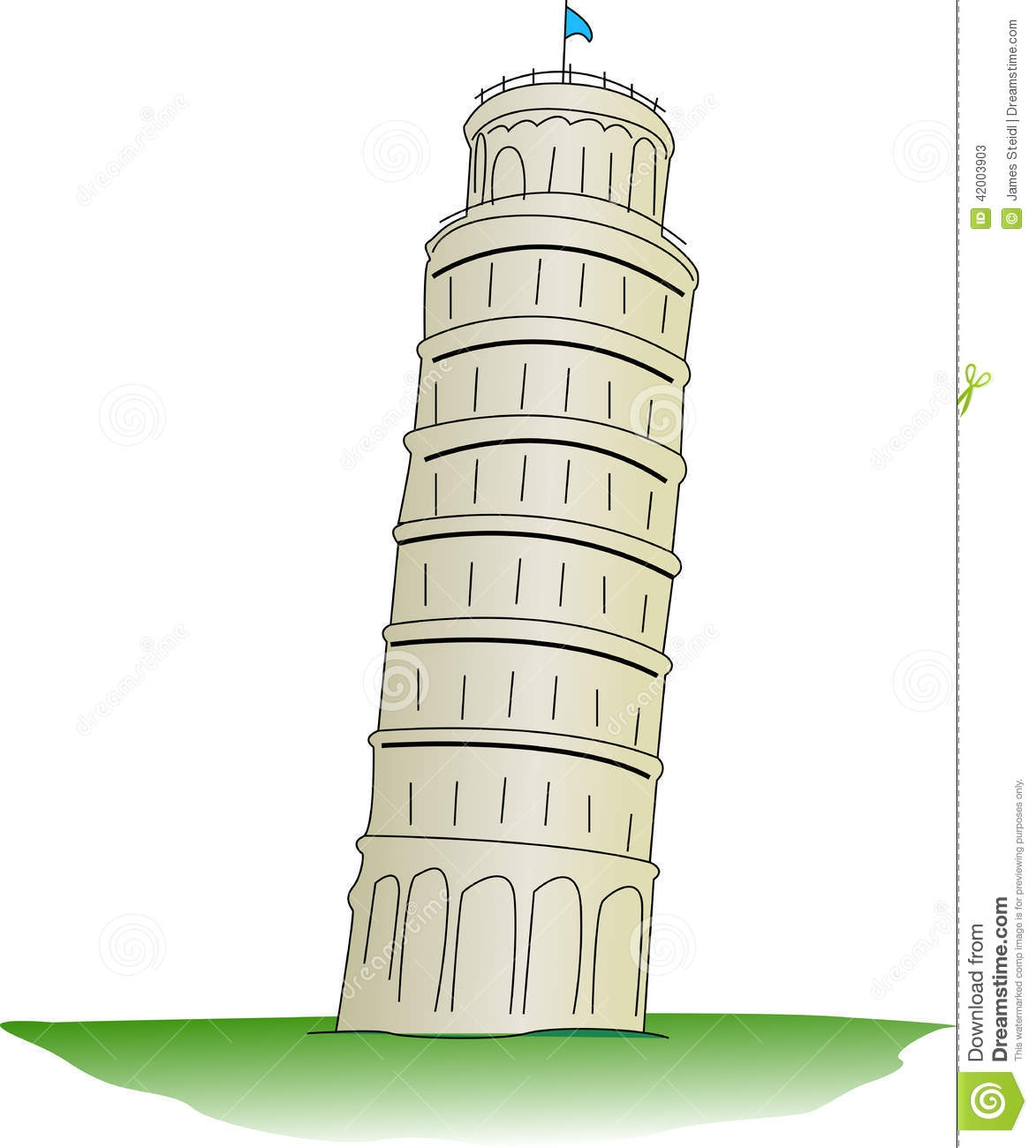 Tower clipart pisa tower #2