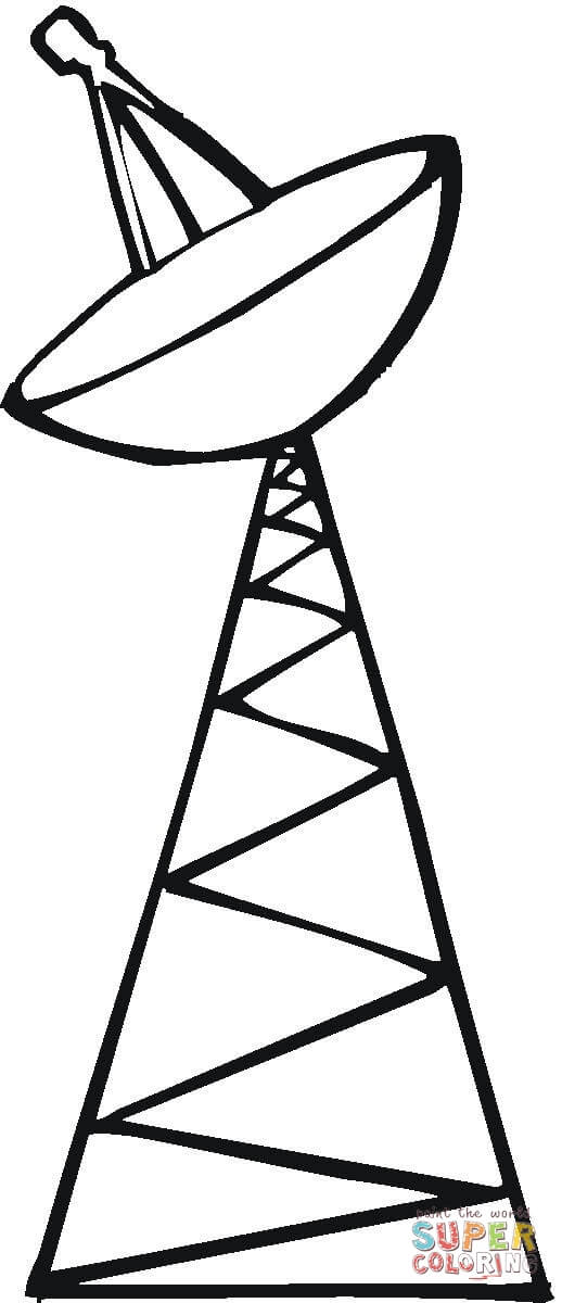 Towers clipart satellite tower Tower page coloring the Pages