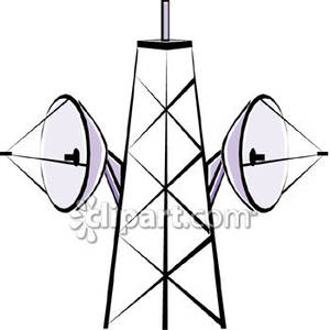 Towers clipart satellite tower Royalty Royalty Clipart Free Picture