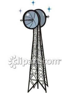 Towers clipart satellite tower A Tower Free Royalty Free