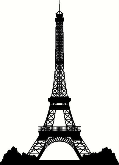 Eiffel Tower clipart silhouette Clip eiffel of 7 silhouette
